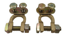 2x Solid brass top post battery cable wire terminal Automotive gold terminals