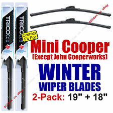WINTER Wipers 2pk fit All 2012 Mini Cooper (EXCEPT John Cooperworks) 35190/180