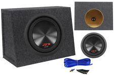 "Alpine SWR-8D4 8"" Inch 1000w Dual 4 Ohm Car Subwoofer+Slim Sub Enclosure Box"