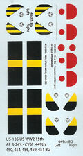 US-135 - WWII US Aircraft Markings - 1/285 Decals