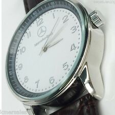 NEW Mercedes Benz Men's Leather Strap Quartz Luxury Wrist Watch USA FAST SHIP