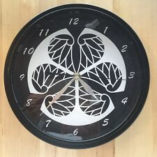Kamon Japanese Family Crest Tokugawa 9 - 9.5 inch Wall Clock