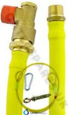 "CATERHOSE 1/2"" 1.5M TURN AND PULL BAYONETT COMMERCIAL YELLOW HOSE PIPE 1500MM"