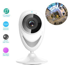 720P Wireless WIFI IP Camera 360°Full Fisheye View Network PIR Security Audio