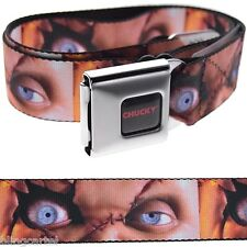Seed Of Chucky Child's Play Face Close-Up Seatbelt Seat Belt Style Buckle Down