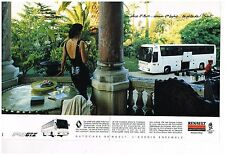 Publicité Advertising 1989 (2 pages) Autocars Bus FR1 GTX Renault