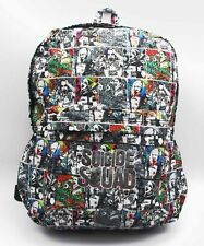 DC Suicide Squad Harley Quinn Joker Backpack School Laptop Bag