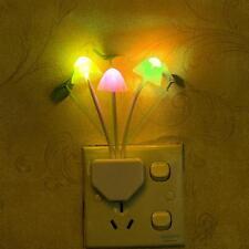 Lovely Mushroom Color Changing Sensor LED Nightlight Lamp Light Gift Home Decor