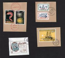 LUNDY STAMPS USED ON 4 PIECES