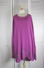 Encore Tunic Berry Thermal w/ Star Burst Art OSFA by Blue Fish Red Moon Clothing