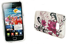 DESIGN No.7 SILIKON TPU COVER HANDY CASE + Displayschutzfolie SAMSUNG I9100