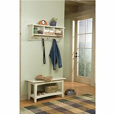 Shaker Cottage Bench/Coat Hook W/Storage  Sand