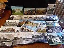 Mixed Lot Of 20  Castle Postcards Linen RPPC Color Black & White