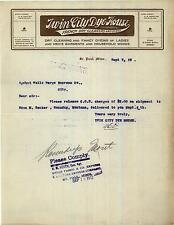 1912 Twin City Dye House, French Dry Cleaners & Dyers, Letterhead, St. Paul, MN