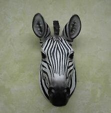 HD26907-ZEB ZEBRA BUST SAFARI WALL DECORATION STATUE FIGURINE DKW