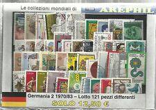 COLLEZIONE DEL MONDO - LOTTO GERMANIA 2 1970/83 - 121 PEZZI DIFFERENTI