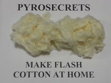 Make Flash Paper and Cotton  NITROCELLULOSE at Home Guide  Pyrotechnics & Magic