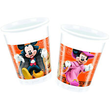 8 Disney Mickey & Minnie Mouse Orange Halloween Party 7oz Plastic Cups
