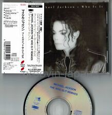 MICHAEL JACKSON Who Is It Remixes JAPAN CD w/OBI+6p PS BOOKLET ESCA 5652 Free SH