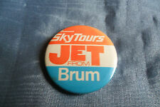 THOMSON Sky Tours JET from BRUM pin lapel button badge,free u.k. p&p