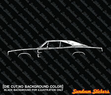2X Car silhouette stickers - for Dodge Charger 2nd gen 1968–1970 classic mopar