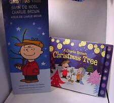 "Charlie Brown 50 Years 24"" Christmas Tree & Christmas Tree  Pop Up Book NEW"