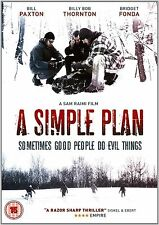 A Simple Plan DVD Bill Paxton Billy Bob Thornton New and Sealed UK Release R2