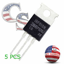 5 x IRF510N IRF510 Power MOSFET N-Channel 5.6A 100V USA SHIP