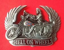 HELL ON WHEELS  AMERICAN CHOPPER BIKE BIKER EASY RIDER MOTORCYCLE BELT BUCKLE