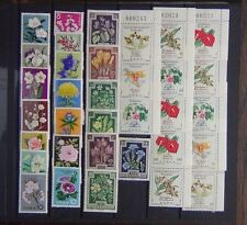 Flowers Collection Columbia 1960 values Austria 1948 TB Japan 1960 Flowers MM