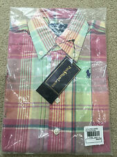 Ralph Lauren Kids shirt - Pastel Pink & Green - Size: 4 T