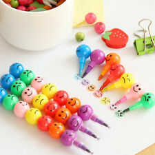 Fashion 7 Colors Cute Stacker Swap Smile Face Crayons Children Drawing Gift