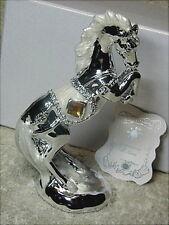 Bomboniera per cresima, 1° Comunione, matrimonio, cavallo in resina argentata