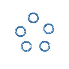 6mm Niobium Teal Jump Rings - Hypoallergenic (20 Gauge) Pack of 20 (K36/20)