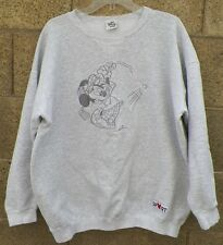VINTAGE MENS GRAY LARGE MICKEY MOUSE GOLF SWEATER FROM THE DISNEY STORE