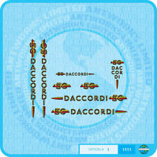 Daccordi 50th Anniversary Bicycle Decals Transfers Stickers - Set 1