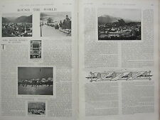 1902 PRINT ~ ROUND THE WORLD AUSTRIA WINTER RESORTS ICE RINK INNSBRUCK SALZBURG