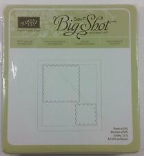 BRAND NEW Stampin' Up! SCALLOP SQUARES DUO Bigz Sizzix Big Shot Die RARE