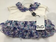 Brand New D&G DOLCE GABBANA Kid Baby T Shirt Top Printed Blouse Dress 3 6 9 12