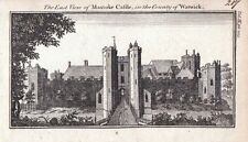 WARWICKSHIRE MAXSTOKE CASTLE Original Antique Copper Engraved Print c1770