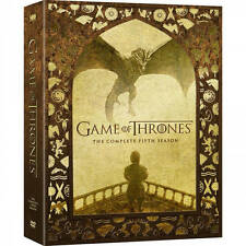 Game Of Thrones: Complete Fifth Season 5 (DVD 5-Disc 2016) Free fast Shipping