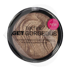 Technic Get Gorgeous Bronzing Bronze Powder 12g Face Highlighter Shimmer Compact