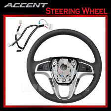 New Leather Steering Wheel,Wire harness Set OEM for 2011-2012 Hyundai Accent