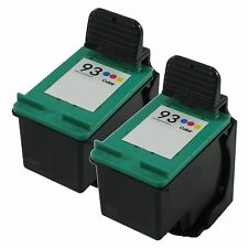 2 Pk Color Ink for HP 93 Photosmart C3135 C3140 C3150 C3180 C4180 7850