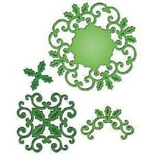 SPELLBINDERS Shapeabilities HOLLY MOTIFS S5-057 4 Dies Emboss Cut