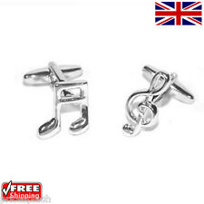 Cool Men's Women's Dress Music Musical Notes Cufflinks Novelty Design