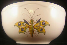 VARAGES FRENCH VIEUX PROVENCE Cereal Bowl Butterfly Soup Blue Flower Bug France