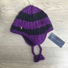 BNWT *ON SALE* Gogeous Ralph Lauren cable knit hat 4-6 y 100%Genuine