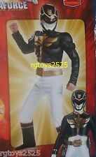 Power Rangers Megaforce Black Muscle Costume size 7-8 M New Childs Halloween