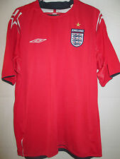 England  Away Football Shirt 2004-2006 mans Adult Large  3 lions soccer /11304